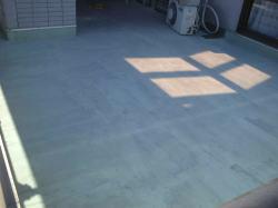 ベランダ床塗装2