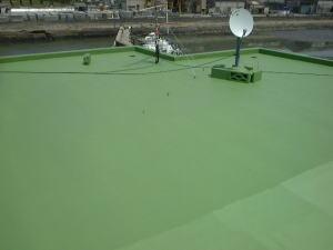 屋上防水塗装2
