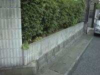 門柱・塀塗装工程1