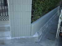 門柱・塀塗装工程4