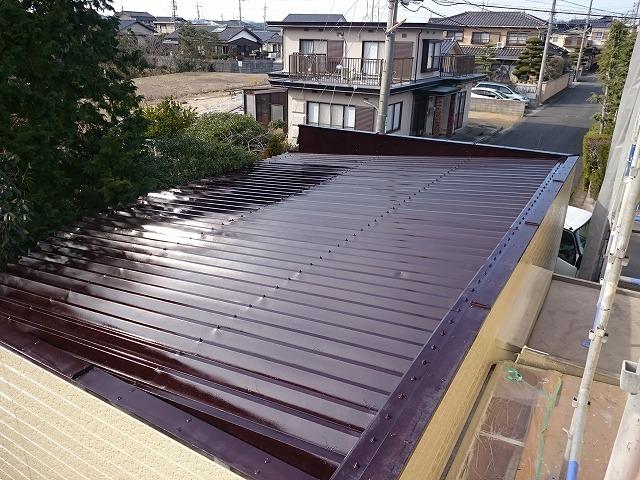 折板屋根 完了