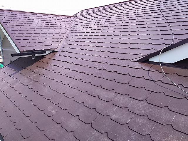 屋根 中塗り~上塗り